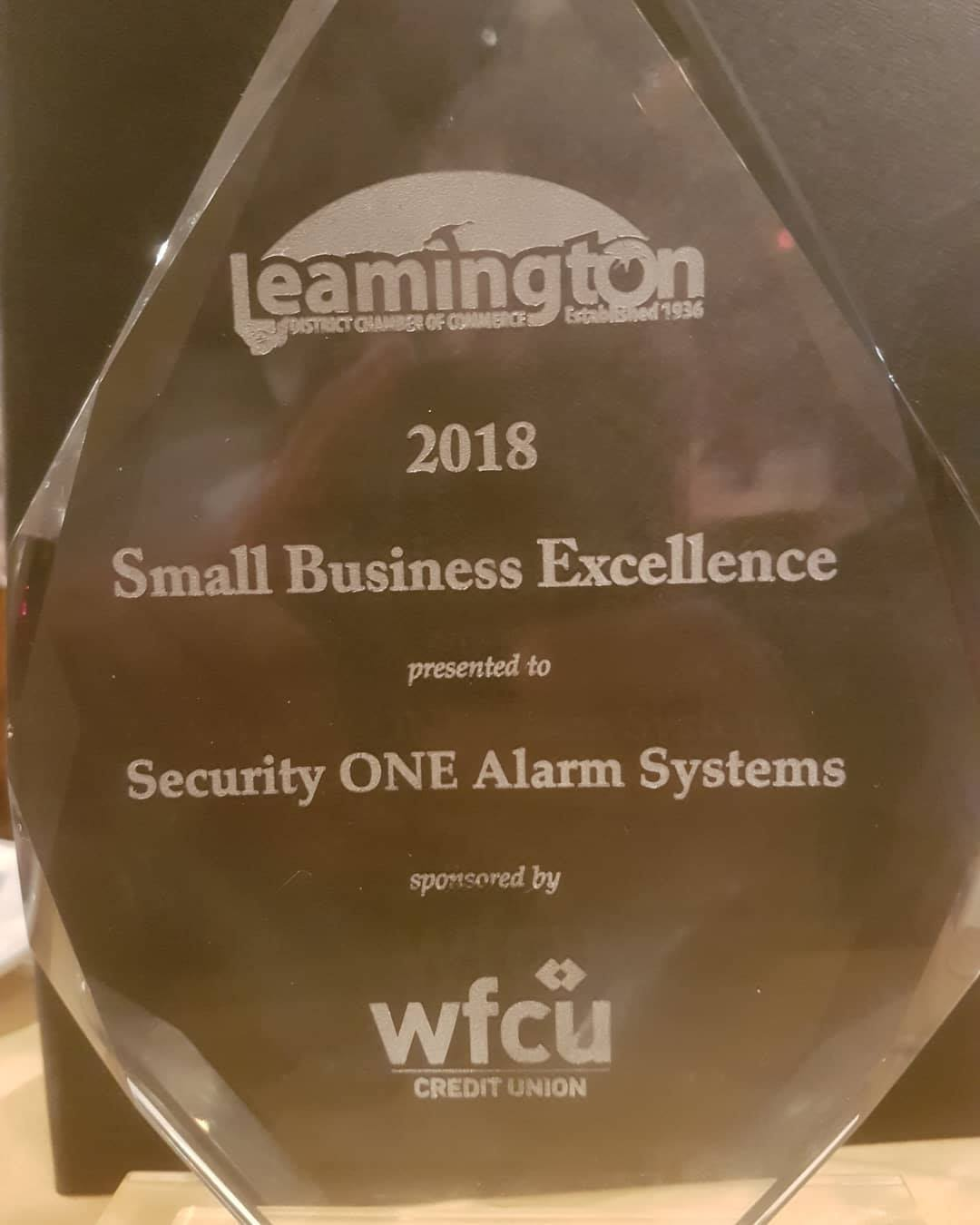 Security One Wins Small Business Excellence Alarm Systems A Time Only Burglar Is An Acknowledged Leader In The Monitoring Industry Having Won 7 Consecutive Life Safety Awards 6